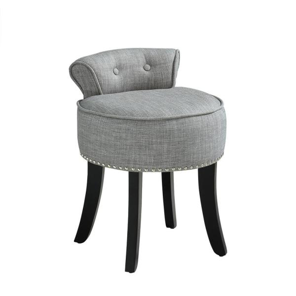 Amazing Hillsdale Furniture Sophia Aqua Blue Fabric Vanity Stool Caraccident5 Cool Chair Designs And Ideas Caraccident5Info
