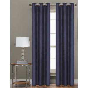 Cathay Home 84 inch L Polyester Form Blackout Grommet Curtain Panel in Indigo (Set of 2) by Cathay Home