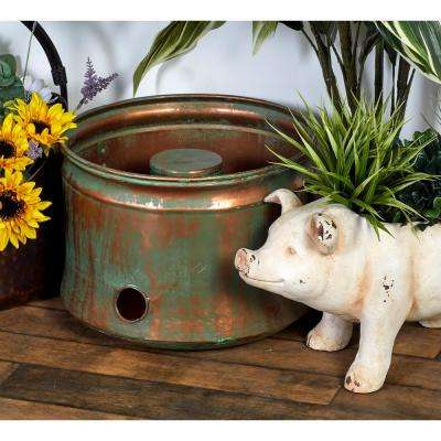 Rustic Ceramic Pig Flower Planter