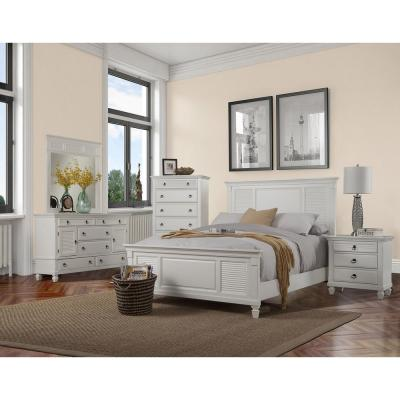 Winchester 3-Drawer White Nightstand