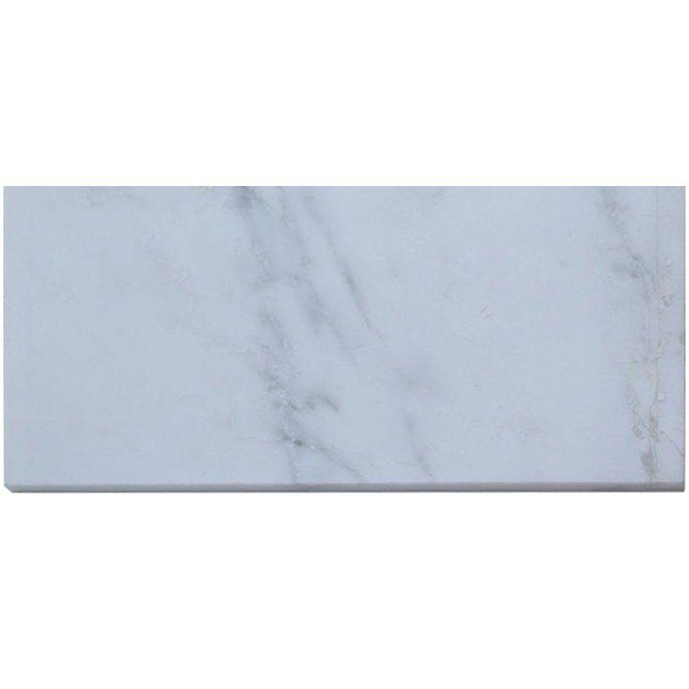 Splashback Tile Oriental 24 in. x 12 in. Marble Floor and Wall Tile-DISCONTINUED