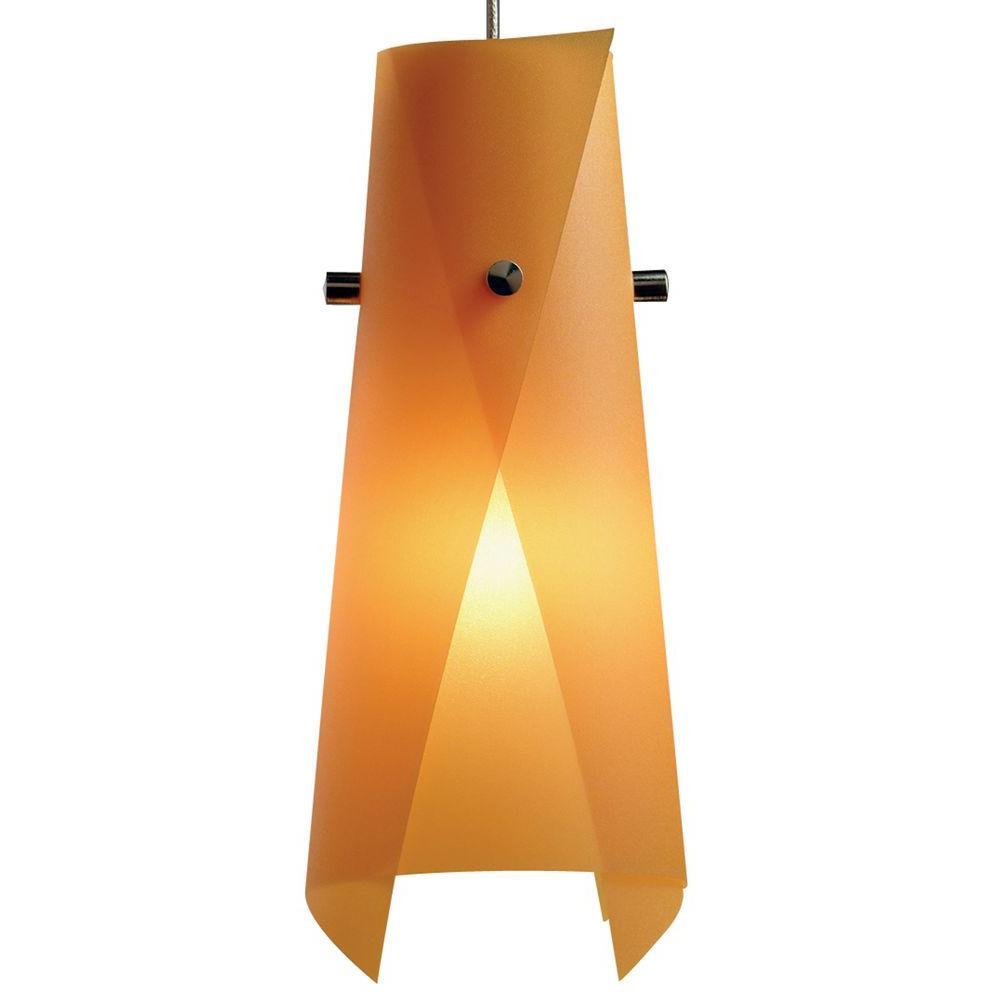 1-Light Orange Peel Hanging Mini Pendant