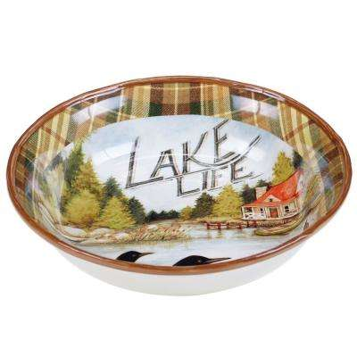 Lake Life Pasta/Salad Serving Bowl