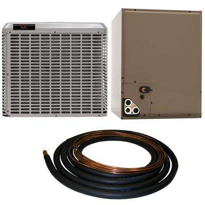 1.5 Ton 13 SEER Residential Whole House Unit Sweat A/C System with 30 ft. Line Set