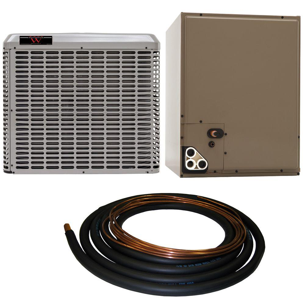 winchester 3 5 ton 13 seer residential whole house unit sweat a c system with 30 ft line set. Black Bedroom Furniture Sets. Home Design Ideas