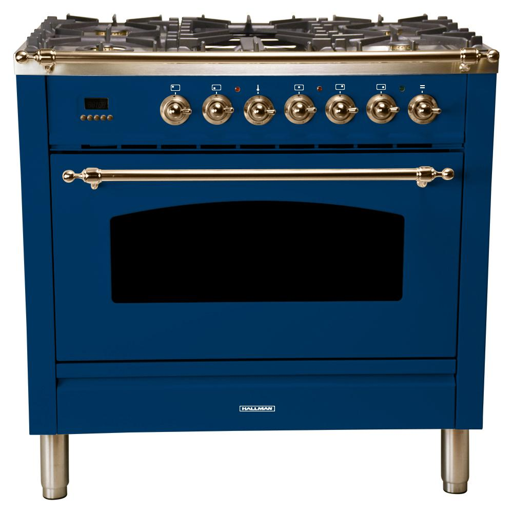36 in. 3.55 cu. ft. Single Oven Italian Gas Range with