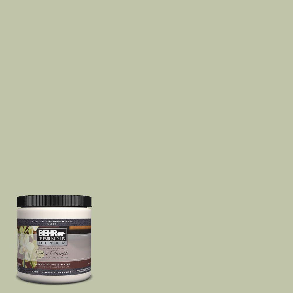 BEHR Premium Plus Ultra 8 oz. #UL210-13 Minted Lemon Interior/Exterior Paint Sample