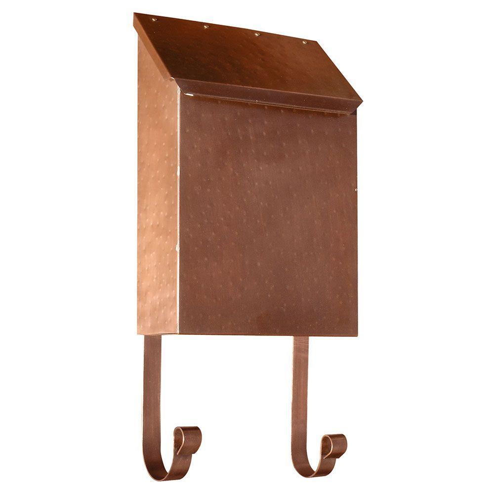 Antique Copper Wall Mount Non-Locking Brass Mailbox