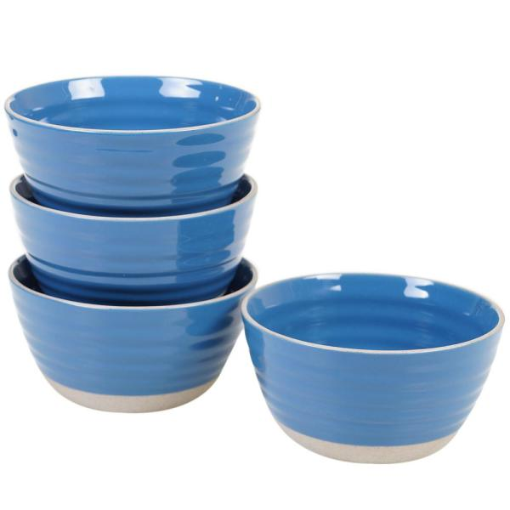 Certified International Artisan Blue Ice Cream Bowl (Set of 4) 13834SET4