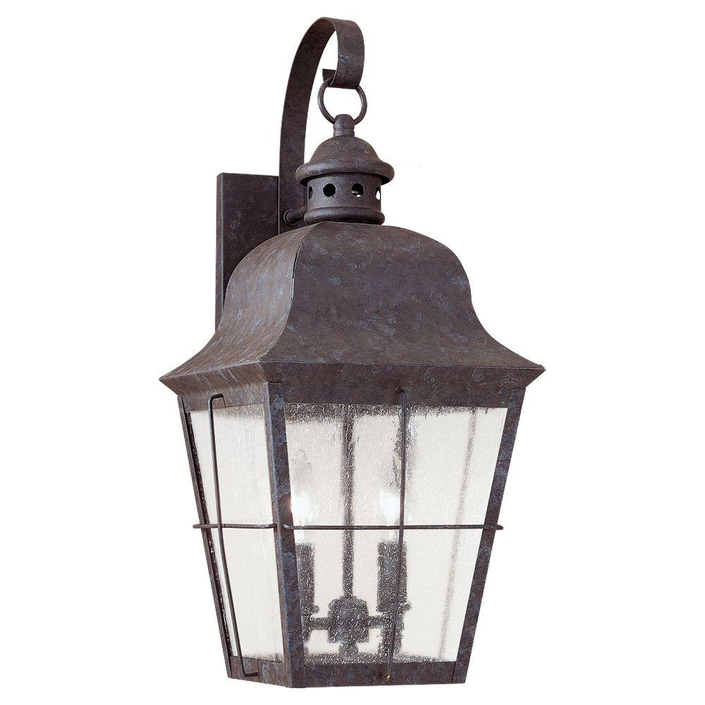 Sea Gull Lighting Chatham Large 2-Light Oxidized Bronze Outdoor Wall Collonial Outdoor Wall Lighting Ideas on