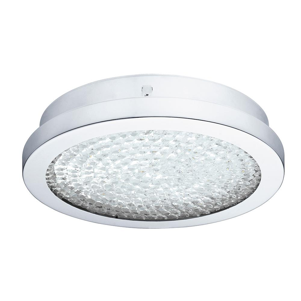 Arezzo 100-Watt Chrome Integrated LED Semi-Flushmount