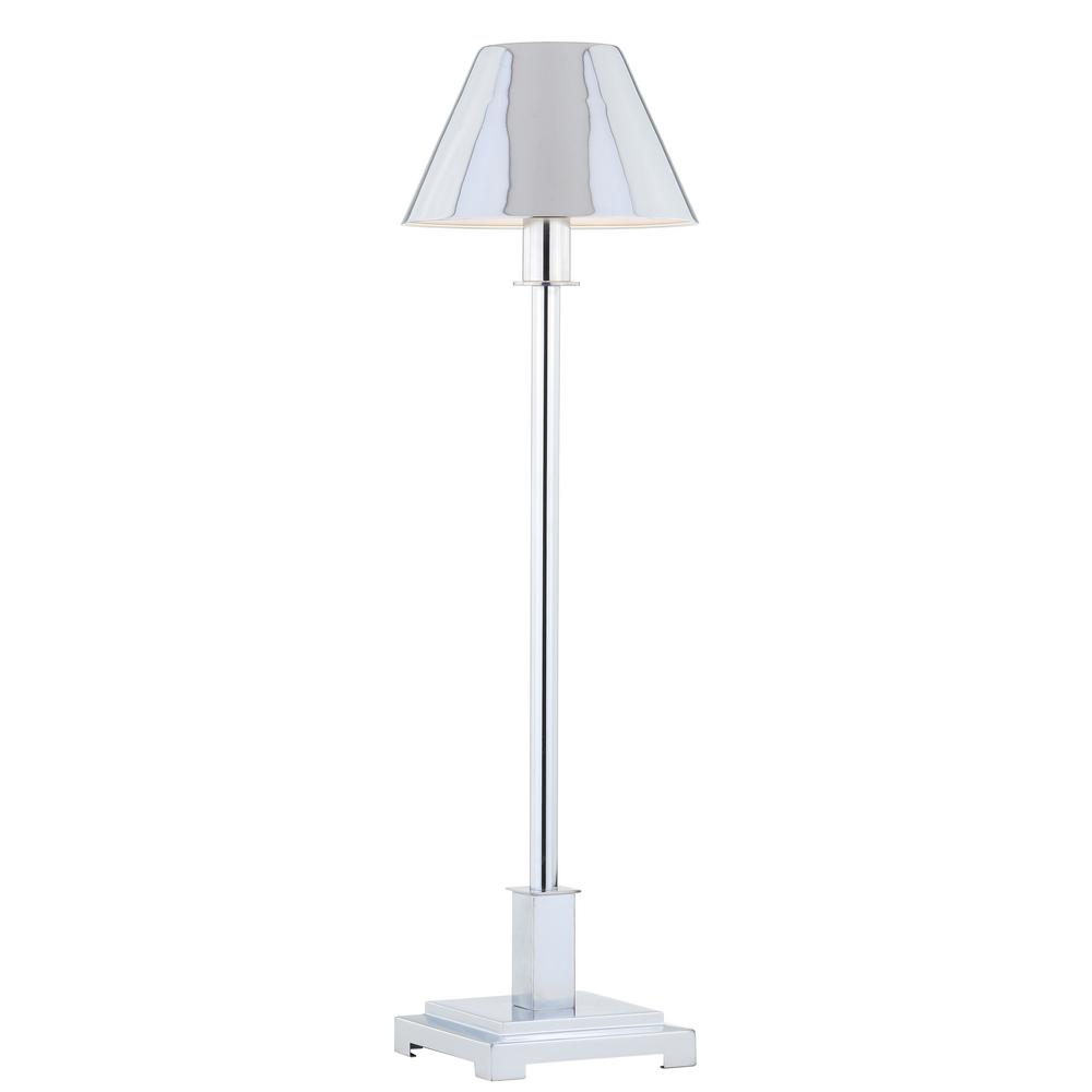 Jonathan Y Roxy 26 In Chrome Metal Shade Table Lamp