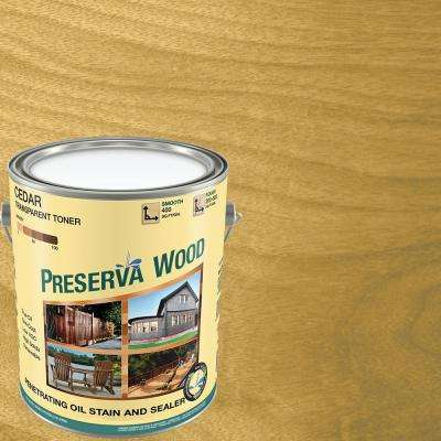 1 gal. 100 VOC Oil-Based Cedar Penetrating Stain and Sealer