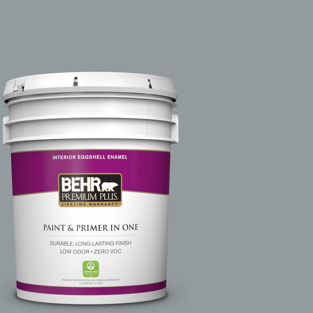 BEHR Premium Plus 5-gal. #720F-4 Stone Fence Zero VOC Eggshell Enamel Interior Paint