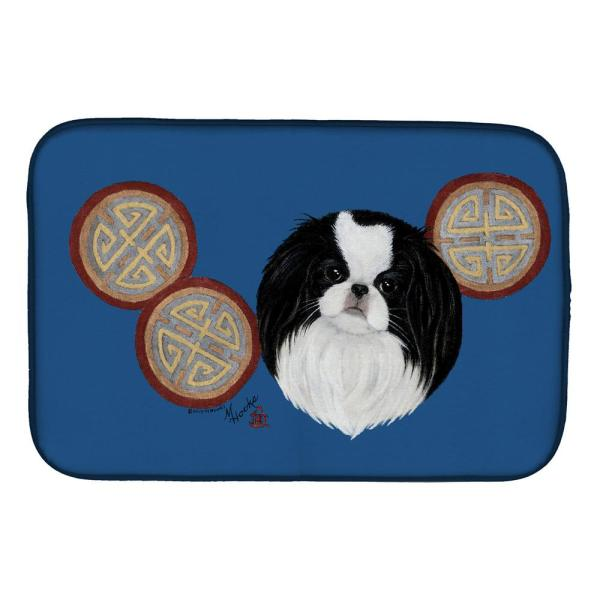 Caroline S Treasures 14 In X 21 In Multicolor Japanese Chin Dish Drying Mat Mh1003ddm The Home Depot