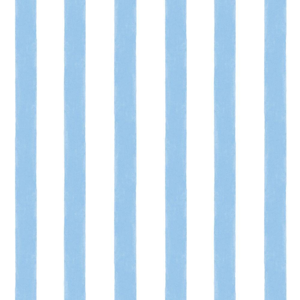Chesapeake Waterside Blue Stripe Wallpaper Sample