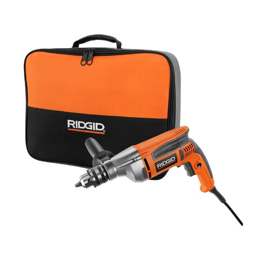 Ridgid 8 amp 1 2 in heavy duty variable speed reversible drill