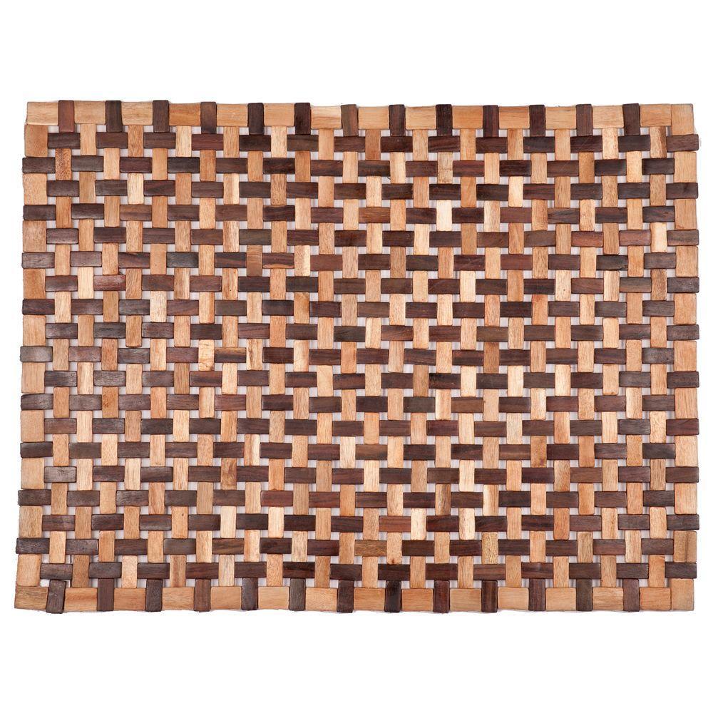 Douglas Natural 18 in. x 30 in. Exotic Wood Mat