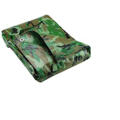 12 ft. x 16 ft. Heavy Duty Camouflage Poly Tarp Cover Waterproof Tarpaulin Great for Canopy Tent Boat RV