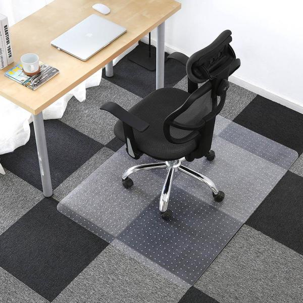 Direct Wicker 36 In X 48 In Clear Rectangle Pvc Office Chair Mat For Low Pile Carpet Pvc 7 The Home Depot