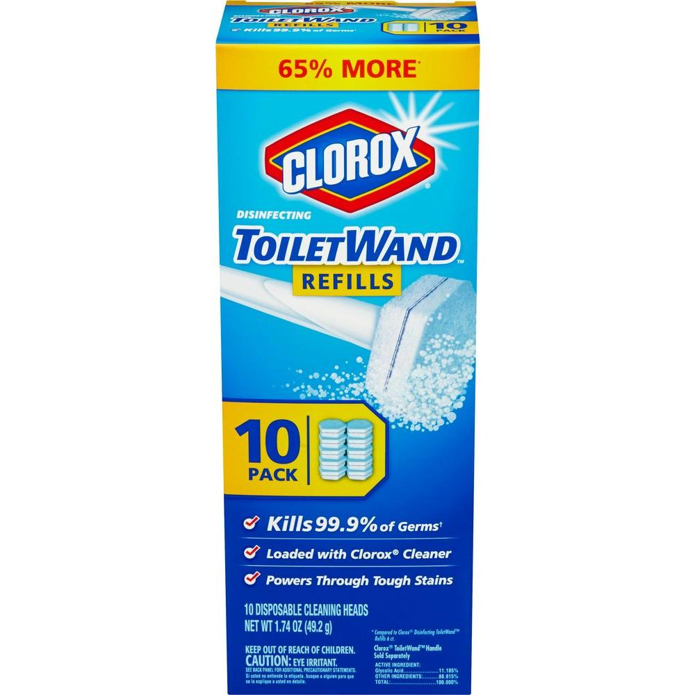 Clorox ToiletWand Disposable Toilet Cleaning Refill Count - Clorox disinfecting bathroom cleaner for bathroom decor ideas