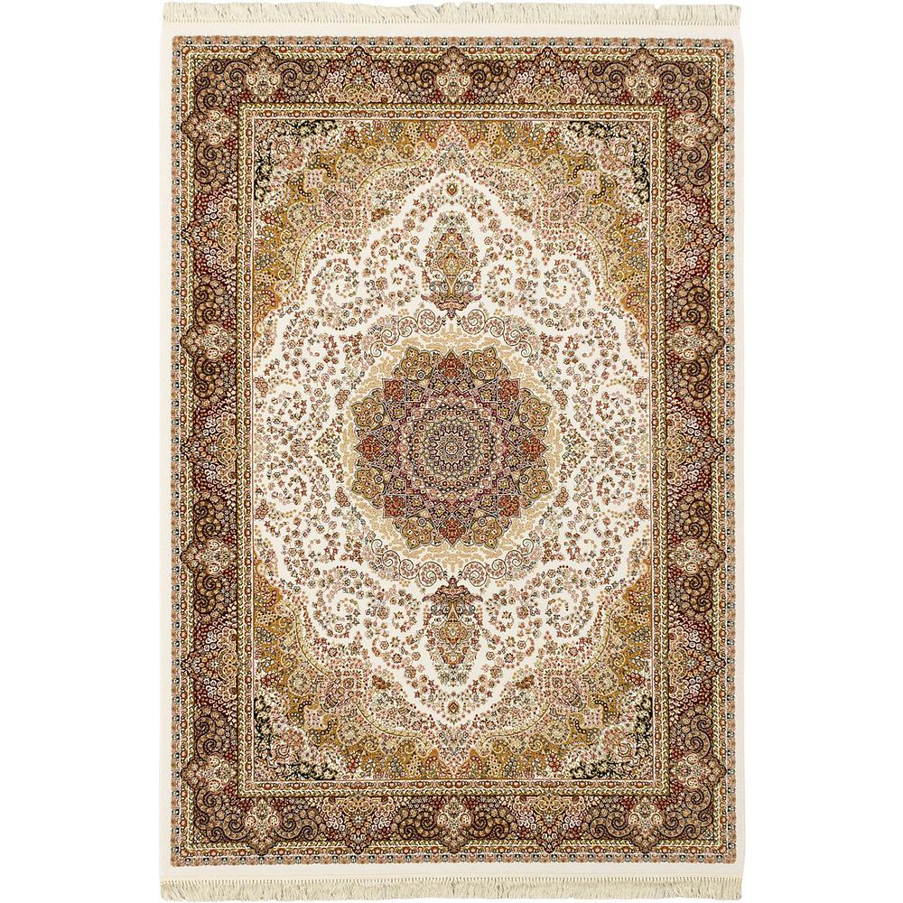 King David 400 Lines White 8 Ft X 11 Ft Area Rug 118999