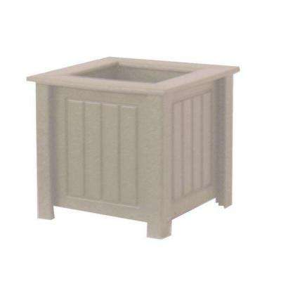 North Hampton 17 in. x 17 in. Driftwood Recycled Plastic Commercial Grade Planter Box