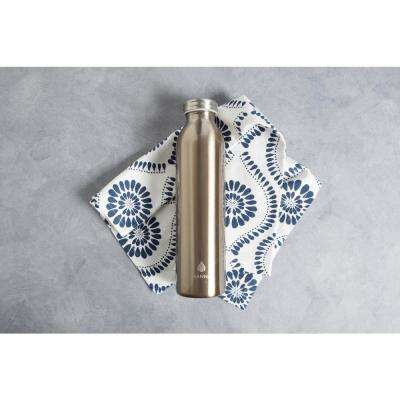 Retro 20 oz. Metallic Gold Vacuum Insulated Bottle