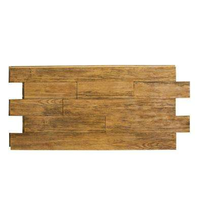 Raised Grain Faux Transitional Panel 1-1/4 in. x 48 in. x 23 in. Fall Leaf Brown Polyurethane Interlocking Panel