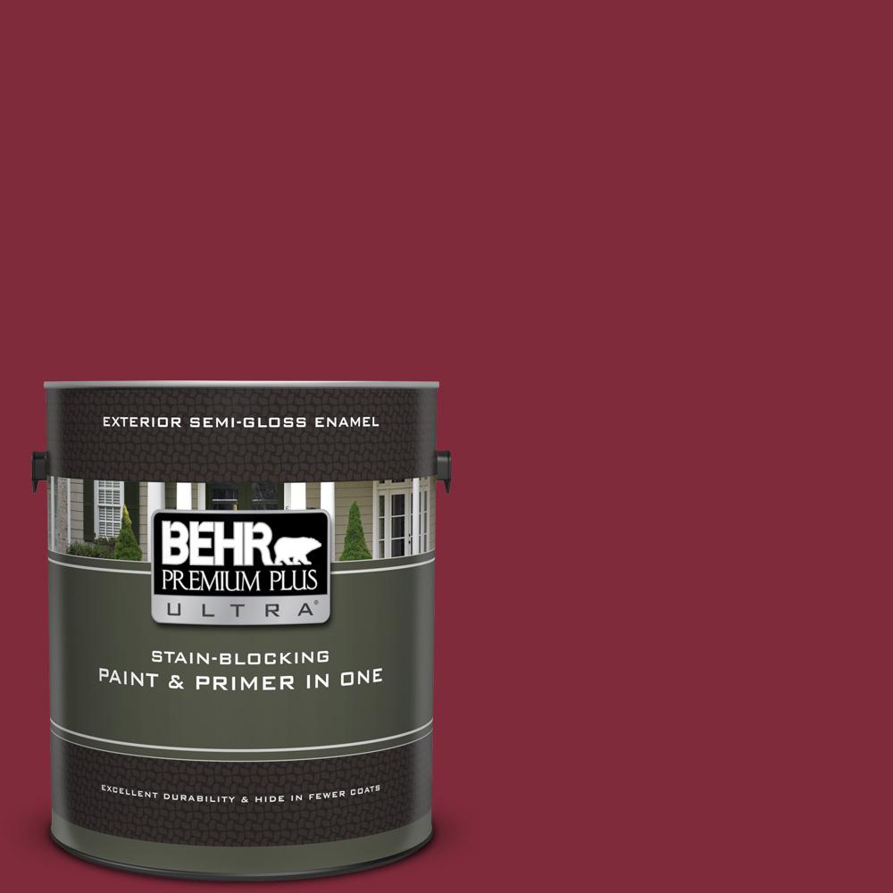 S H 130 Red Wine Semi Gloss Enamel Exterior Paint And Primer In One