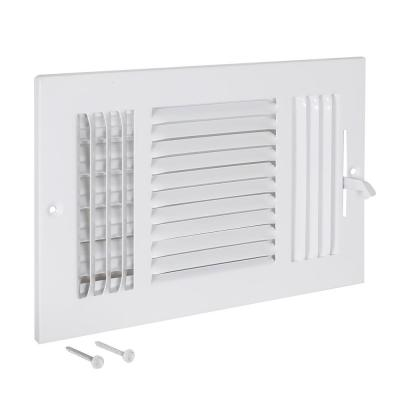 10 in. x 6 in. 3-Way Steel Wall/Ceiling Registered, White