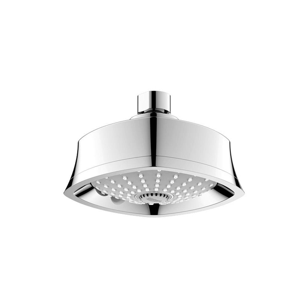 GROHE Grandera 3-Spray 5-1/4 in. Wall-Mount Showerhead in StarLight Chrome
