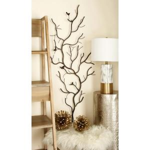 Rustic Gray Iron Branches and Birds Wall Decor by
