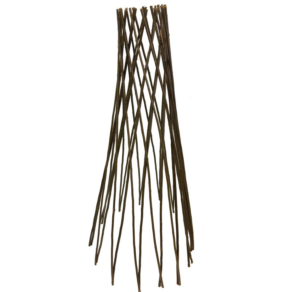 Master Garden Products 36 in. H Willow Round Tepee Trellis
