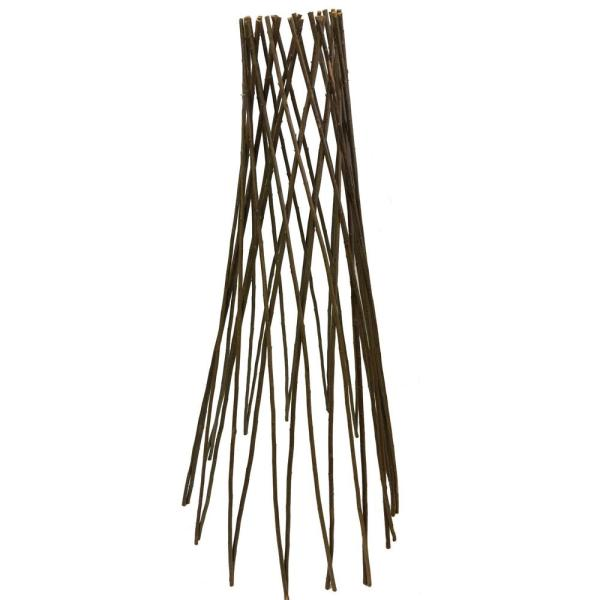 36 in. H Willow Round Tepee Trellis