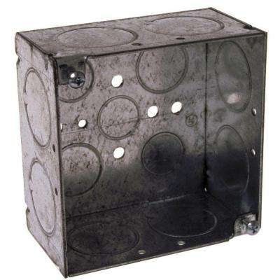 4 in. Square Welded Box, 2-1/8 in. Deep with 1/2, 3/4, & 1 in. KO's (25-Pack)