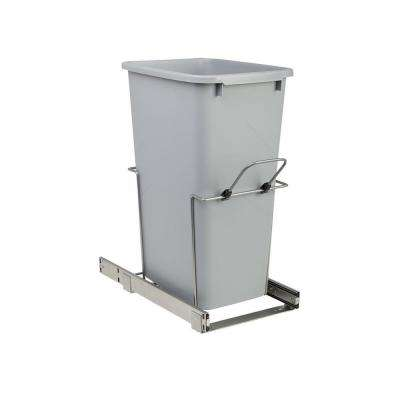 11.375 in. x 20.125 in. x 22.875 in. 50 Qt. In-Cabinet Single Soft-Close Bottom-Mount Pull-Out Trash Can