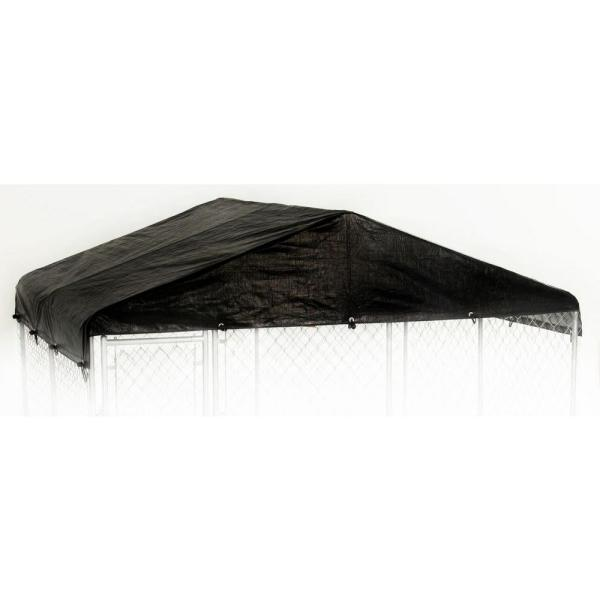 Extra Large 10ft. X 10ft. - All Season Waterproof COVER for Lucky Dog Outdoor Kennels and Pens - Kennel NOT INCLUDED