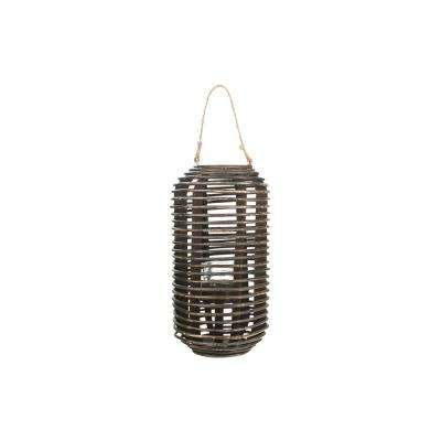 Weathered Brown Candle Lantern