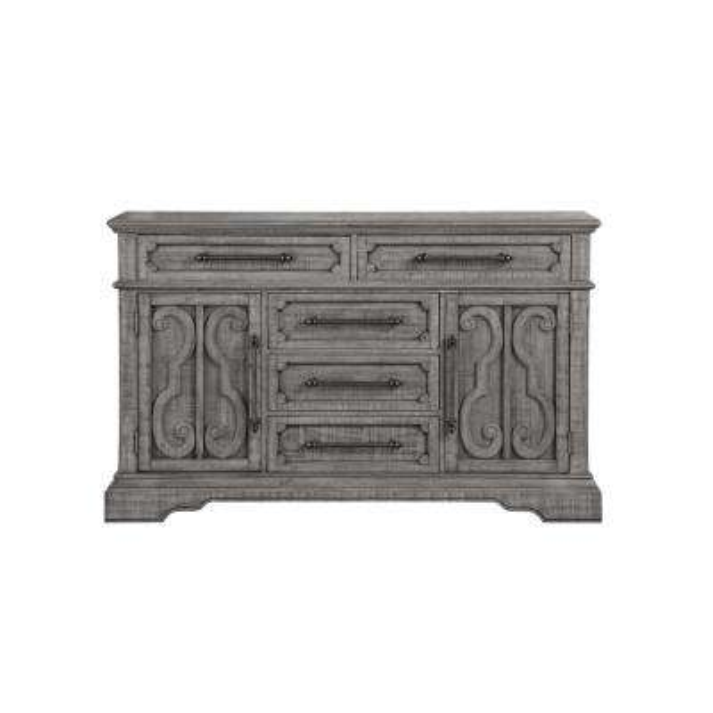 Artesia 5-Drawers Salvaged Natural Dresser