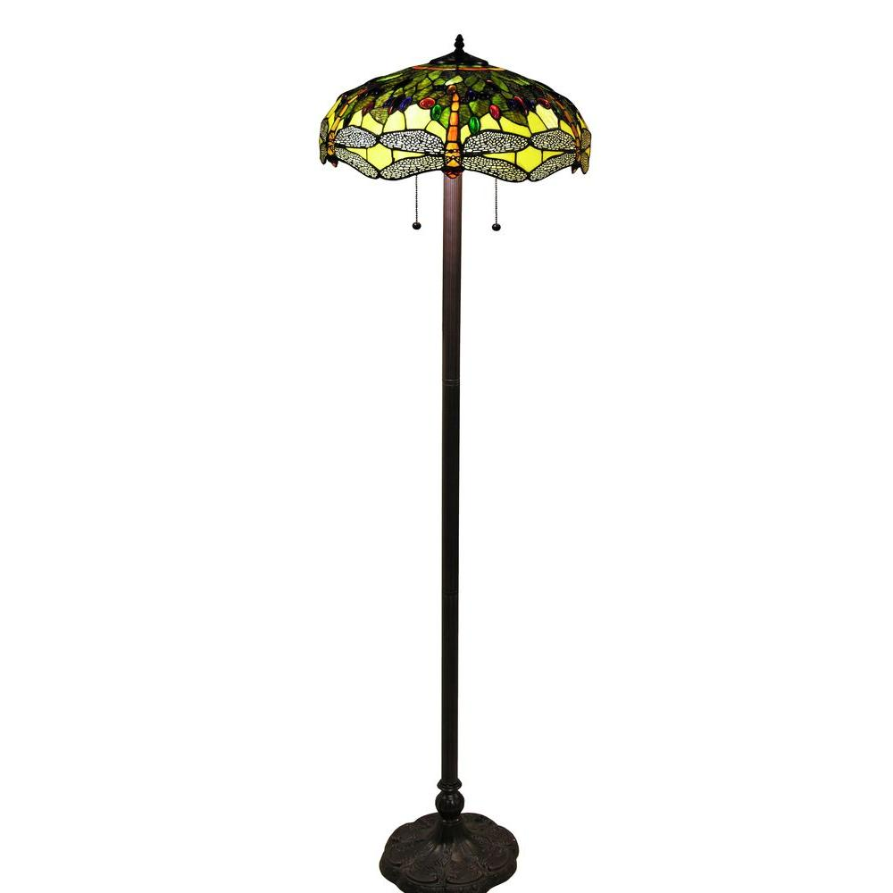 Tiffany Style 61 In Bronze Indoor Floor Lamp With Verde