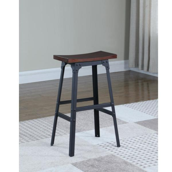 Matte Black Style Backless Counter Stool