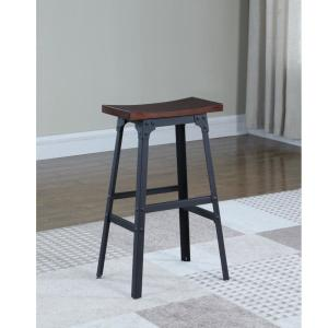 American Woodcrafters Carson 29 inch Matte Black Industrial Style Backless Bar Stool by American Woodcrafters