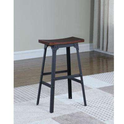 Carson 29 in. Matte Black Industrial Style Backless Bar Stool
