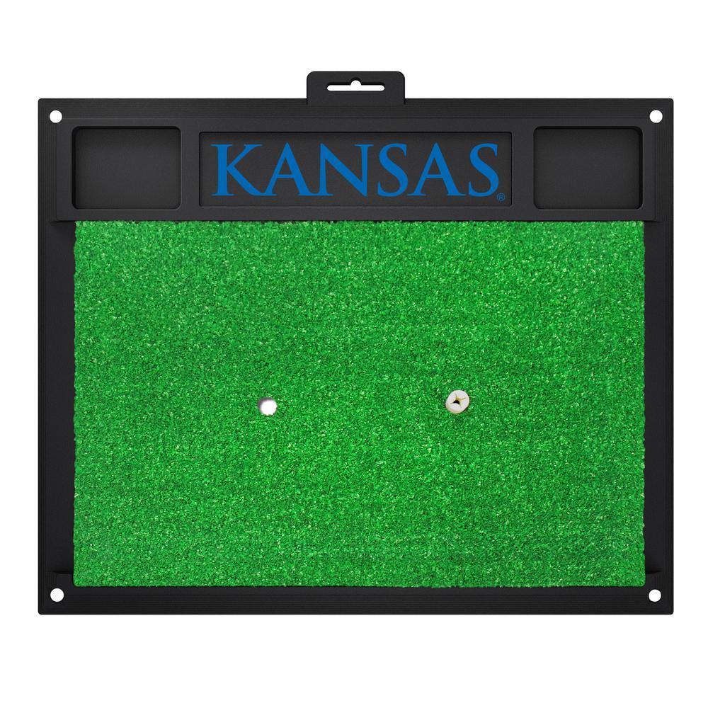 University of Kansas Golf Hitting Mat 20 in.  x 17 in.
