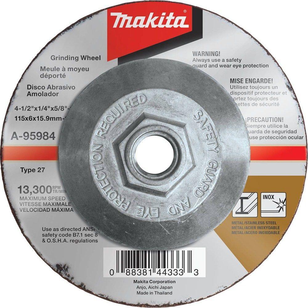 4-1/2 in. x 1/4 in. x 5/8 in. 36-Grit INOX Grinding Wheel