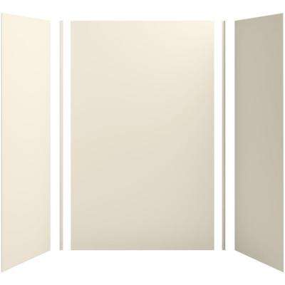 Choreograph 60in. X 32 in. x 96 in. 5-Piece Shower Wall Surround in Almond for 96 in. Showers