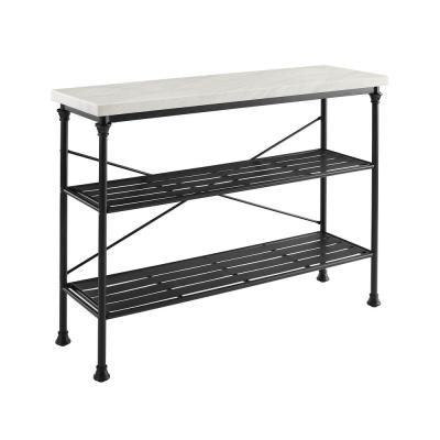 Madeleine Matte Black Console Table