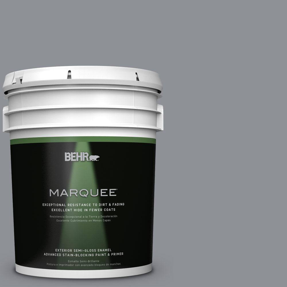 5-gal. #PPU18-4 Dark Pewter Semi-Gloss Enamel Exterior Paint