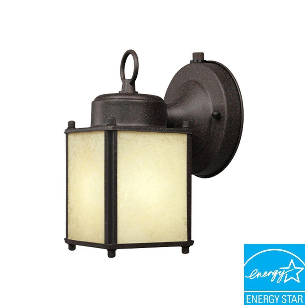 Rust Patina Outdoor Wall-Mount Lamp